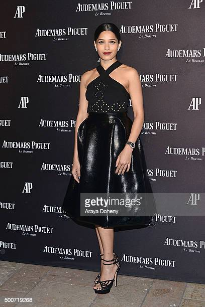 Freida Pinto attends the Audemars Piguet grand opening of Rodeo Drive Boutique at Audemars Piguet on December 9, 2015 in Beverly Hills, California.