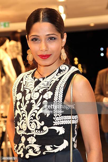 Freida Pinto attends the HM store opening on April 9 2014 in Munich Germany