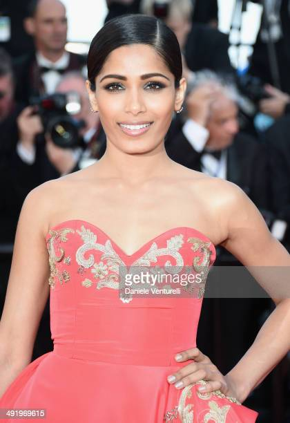 """Freida Pinto attends """"The Homesman"""" Premiere at the 67th Annual Cannes Film Festival on May 18, 2014 in Cannes, France."""