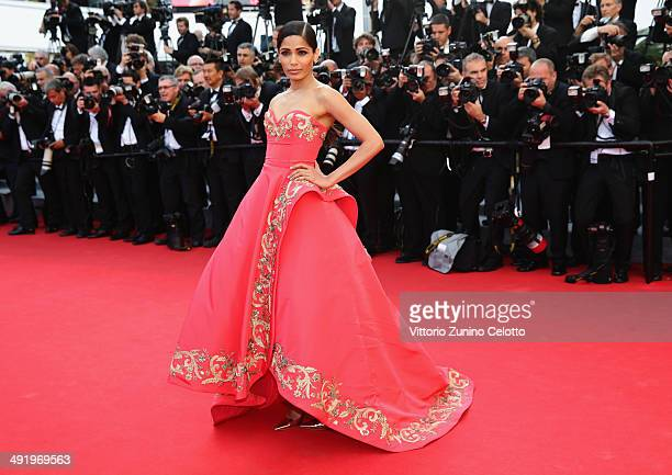 Freida Pinto attends The Homesman premiere during the 67th Annual Cannes Film Festival on May 18 2014 in Cannes France