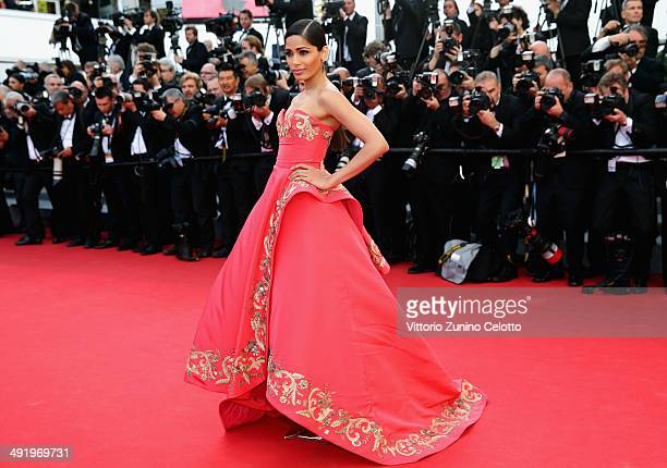 """Freida Pinto attends """"The Homesman"""" premiere during the 67th Annual Cannes Film Festival on May 18, 2014 in Cannes, France."""