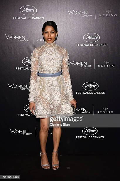 Freida Pinto attends the Kering And Cannes Film Festival Official Dinner at Place de la Castre on May 15 2016 in Cannes France