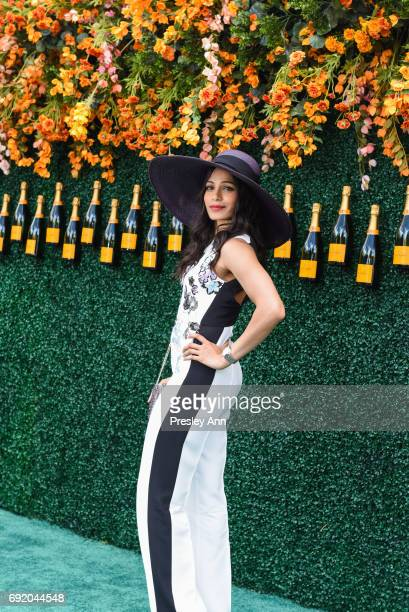 Freida Pinto attends The Tenth Annual Veuve Clicquot Polo Classic - Arrivals at Liberty State Park on June 3, 2017 in Jersey City, New Jersey.