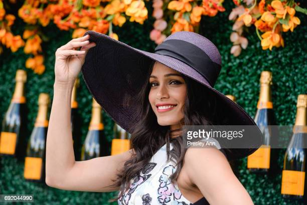 Freida Pinto attends The Tenth Annual Veuve Clicquot Polo Classic Arrivals at Liberty State Park on June 3 2017 in Jersey City New Jersey