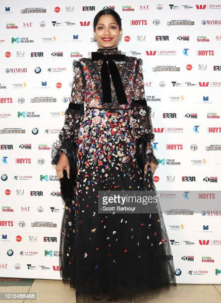 Freida Pinto attends the Westpac IFFM Awards Night 2018 at The Palais Theatre on August 12 2018 in Melbourne Australia