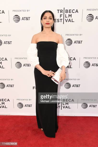"""Freida Pinto attends the World premiere of """"Only"""" during the 2019 Tribeca Film Festival at SVA Theater on April 27, 2019 in New York City."""