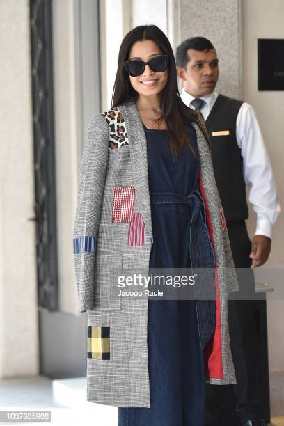 Freida Pinto is seen during Milan Fashion Week Spring/Summer 2019 on September 22 2018 in Milan Italy