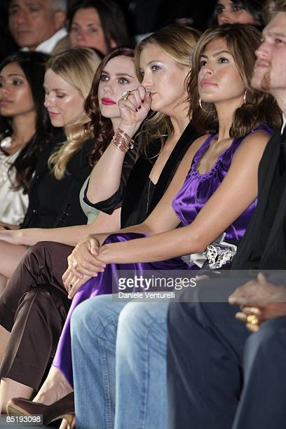 Freida Pinto Naomi Watts Scarlett Johansson Kate Hudson Eva Mendes and Wyatt Russell attend the Dolce Gabbana show during Milan Fashion Week...