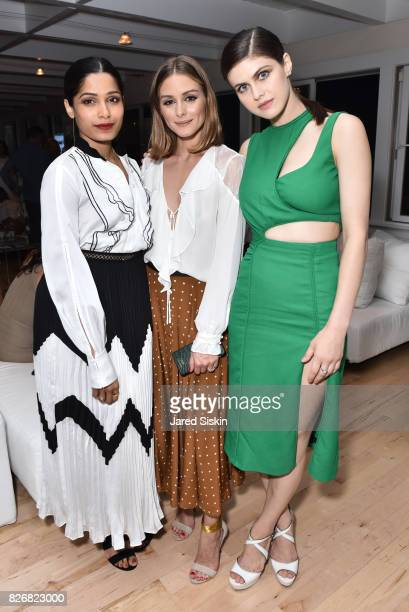 Freida Pinto Olivia Palermo and Alexandra Daddario attend Women's Health and FEED's 6th Annual Party Under the Stars at Bridgehampton Tennis and Surf...