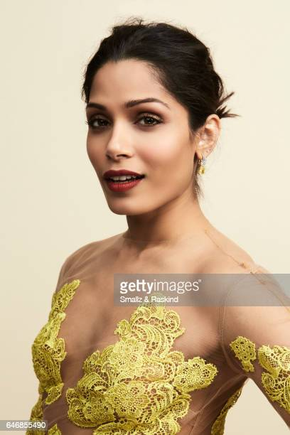 Freida Pinto poses for portrait session at the 2017 Film Independent Spirit Awards on February 25 2017 in Santa Monica California