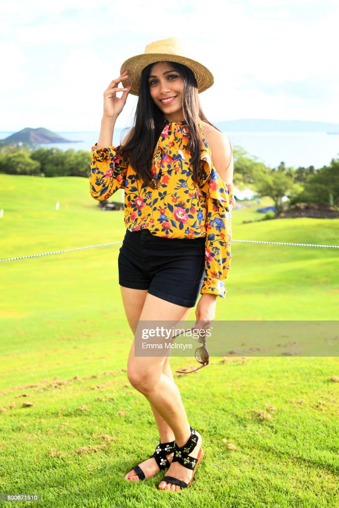 Freida Pinto, recipient of the Shining Star Award, attends the 'Taste of Wailea' on day four of the 2017 Maui Film Festival at Wailea on June 24, 2017 in Wailea, Hawaii.