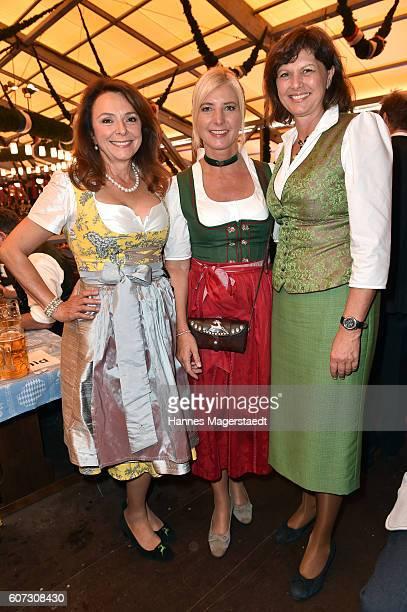 Freifrau Uschi Daemmrich von Luttitz Ulrike Scharf and Ilse Aigner during the opening of the 2016 Oktoberfest beer festival in the Schottenhamel tent...