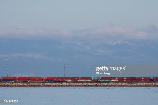 Freight cars sit near the Westshore Terminals Ltd  coal