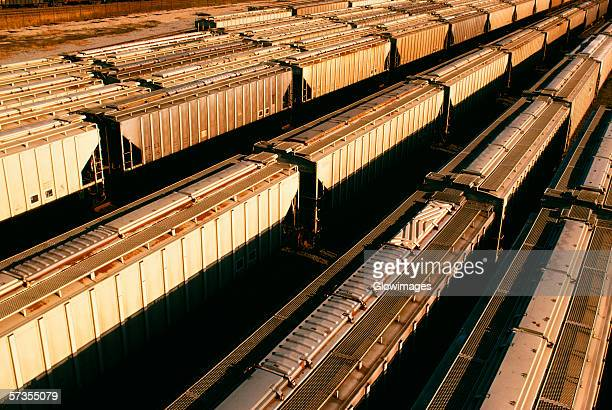 freight cars waiting on tracks in baltimore, maryland - shunting yard stock photos and pictures
