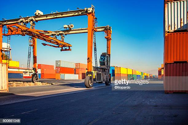 Freight Containers Intermodal Container Stock Photo - Getty