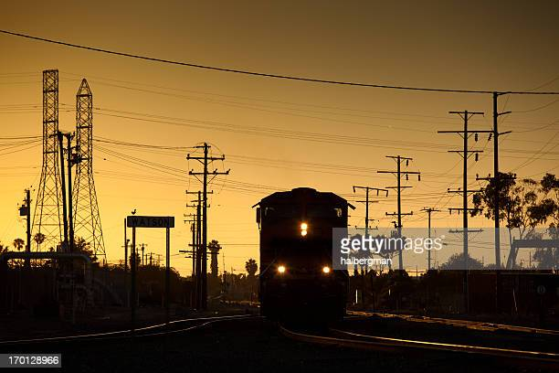 Freight Train at Sunset