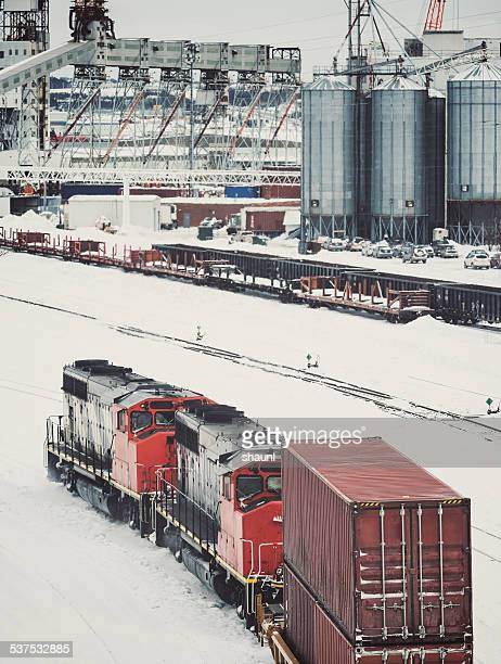 Freight Train Bound for Port