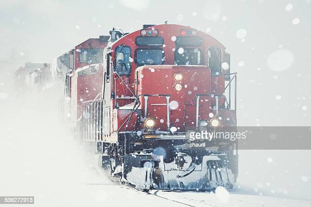 Freight Train in Snow