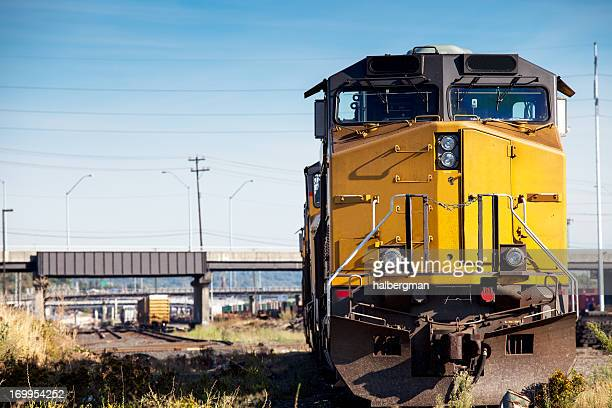 freight train locomotive - railroad stock pictures, royalty-free photos & images