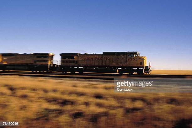 Freight train on the move