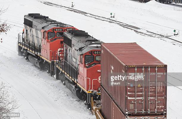 cn freight train - cargo train stock photos and pictures