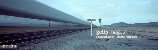 freight train rolling through california - baghdad stock pictures, royalty-free photos & images