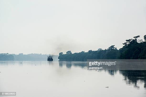 Freight vessel on the Congo River