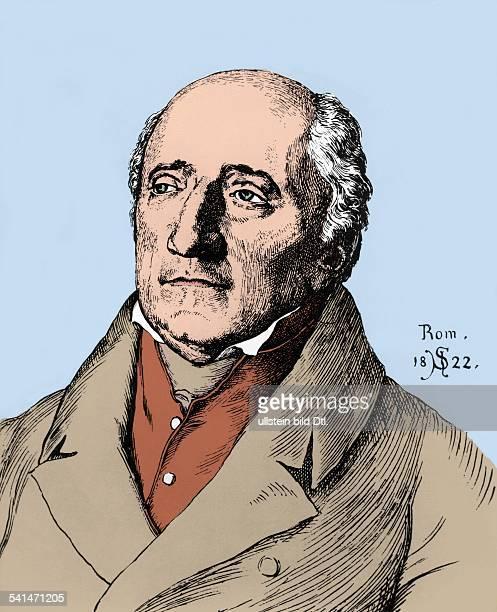 Freiherr vom Stein *2610175729061831preussischer Staatsbeamter Reformer Preussen zeitgenössische Zeichnung undatiertnachträglich koloriert identisch...