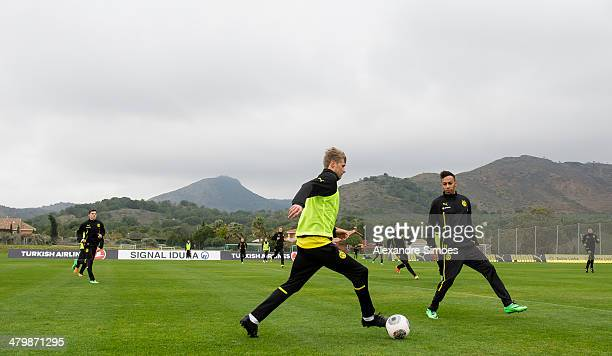 Freitag , 1. Fussball - Bundesliga Saison 13/14 - in La Manga / Spanien,BV Borussia Dortmund im Trainingslager La Manga in Spanien,Oliver Kirch gegen...