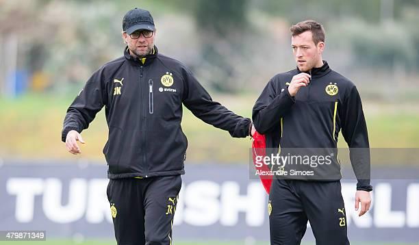 Freitag 1 Fussball Bundesliga Saison 13/14 in La Manga / SpanienBV Borussia Dortmund im Trainingslager La Manga in SpanienTrainer Juergen Klopp mit...