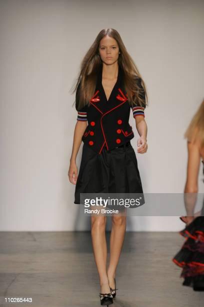 Freja Beha Erichsen wearing PHi Spring 2006 during Olympus Fashion Week Spring 2006 PHi Runway at Bryant Park in New York New York United States