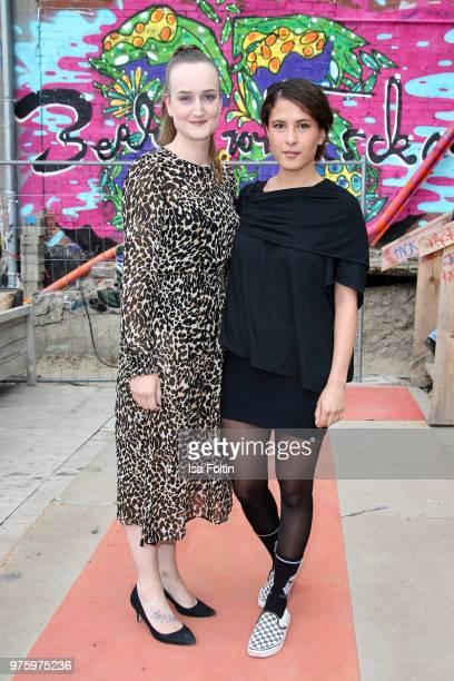 Freja Kreutzkam and Amanda da Gloria during the nominees announcement of the German Play Award 2018 at Kornversuchsspeicher on June 15 2018 in Berlin...