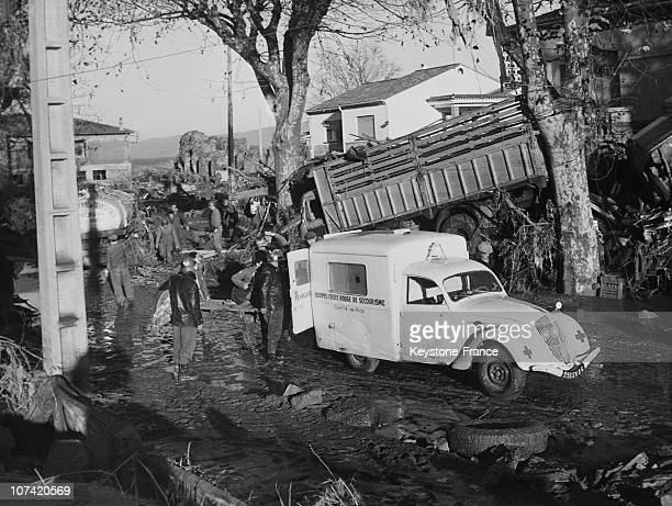 Frejus Disaster Ambulance Transporting Un Injured Man In France On December 4Th 1959