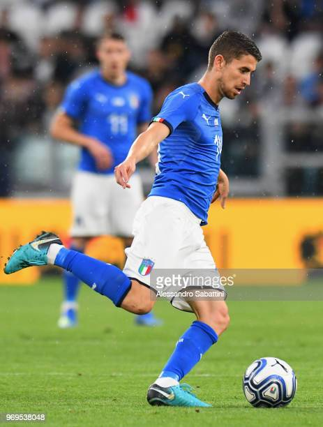 Frello Filho Jorge Luiz Jorginho of Italy in action during the International Friendly match between Italy and Netherlands at Allianz Stadium on June...