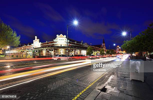 Fremantle Town and South Terrace at night, Perth, Australia
