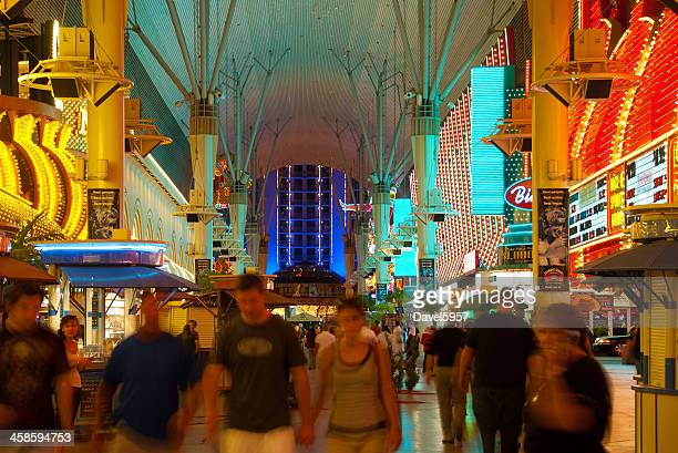 fremont street experience in las vegas - fremont street experience stock pictures, royalty-free photos & images