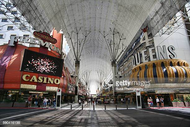 fremont street experience, las vegas - fremont street experience stock pictures, royalty-free photos & images