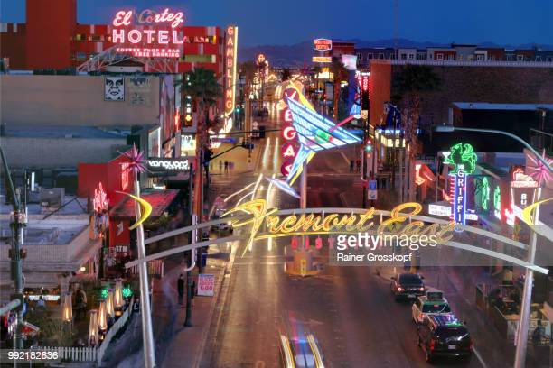 Fremont Street in Downtown Las Vegas at night