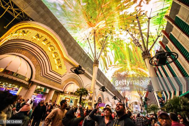 fremont street las vegas, nevada, usa - fremont street experience stock pictures, royalty-free photos & images