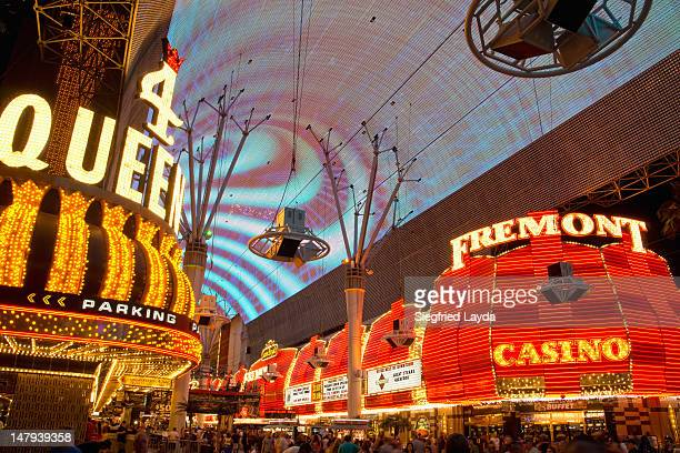 fremont street, las vegas - fremont street las vegas stock pictures, royalty-free photos & images