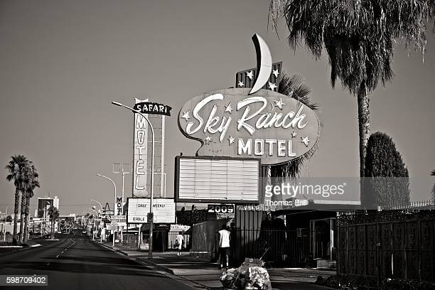 fremont street motels - fremont street las vegas stock pictures, royalty-free photos & images