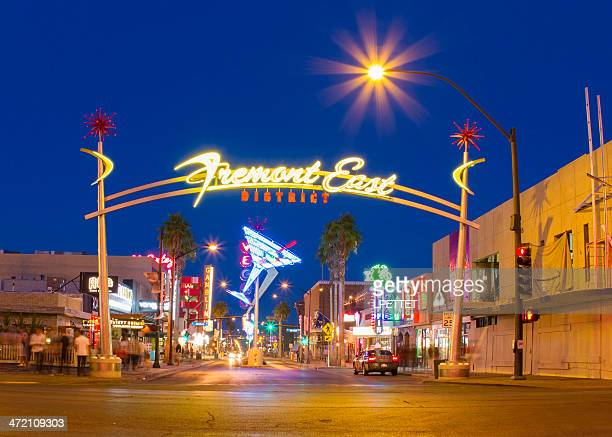 fremont street - fremont street las vegas stock pictures, royalty-free photos & images