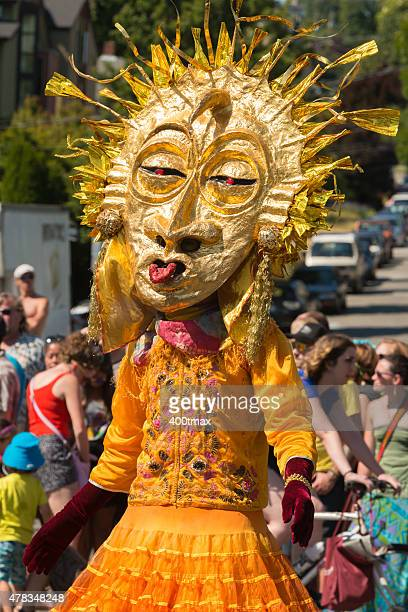 fremont sun - fremont solstice parade stock pictures, royalty-free photos & images