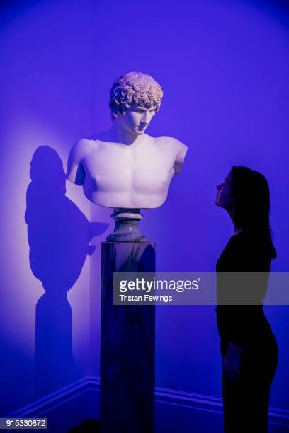 French 18thcentury marble Bust of Antinous After the Antique goes on display as part of Erotic Passion and Desire at Sotheby's on February 7 2018 in...
