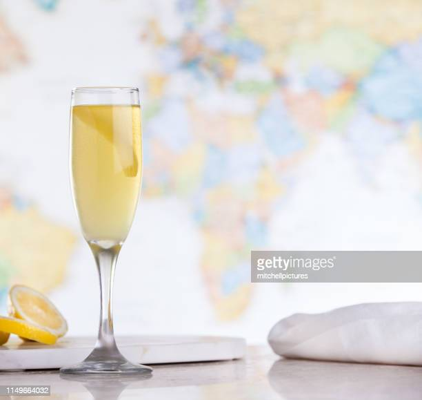 french 75 cocktail - french culture stock pictures, royalty-free photos & images