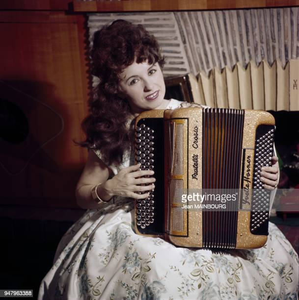 French accordion player Yvette Horner in the Fifties in France