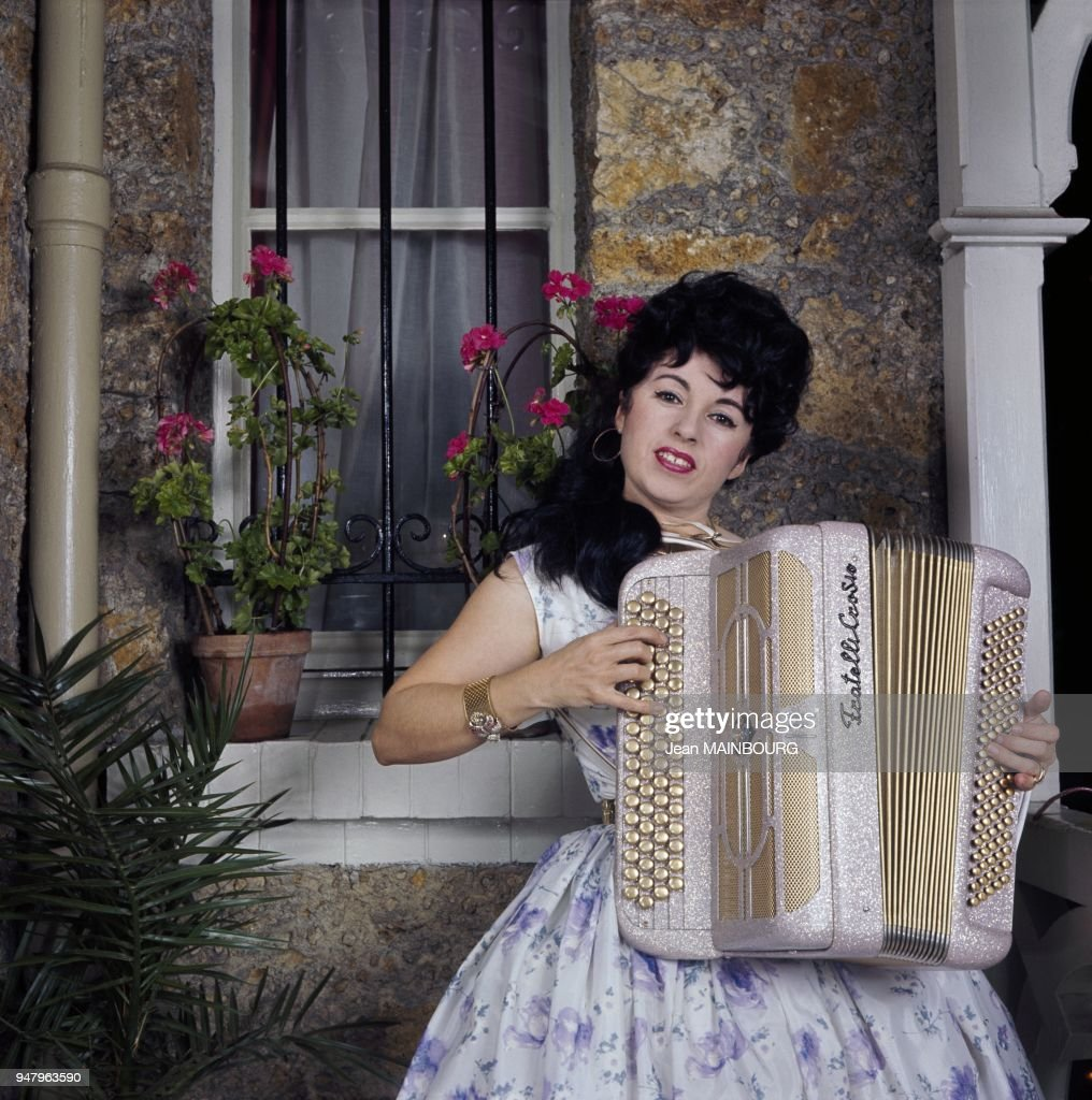 French accordion player Yvette Horner in the Fifties in