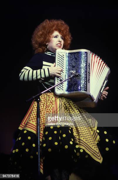 French Accordion Player Yvette Horner On TV Set Paris April 9 1988