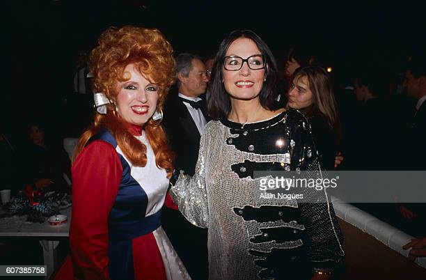 French accordionist Yvette Horner with Greek singer Nana Mouskouri during the 3rd French Music Awards Ceremony