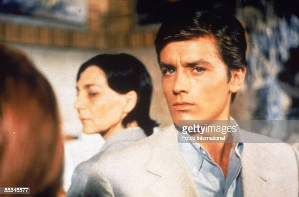 French actor Alain Delon and an unidentified actress in a still from the film 'Purple Noon' based on the Patricia Highsmith novel 'The Talented Mr...